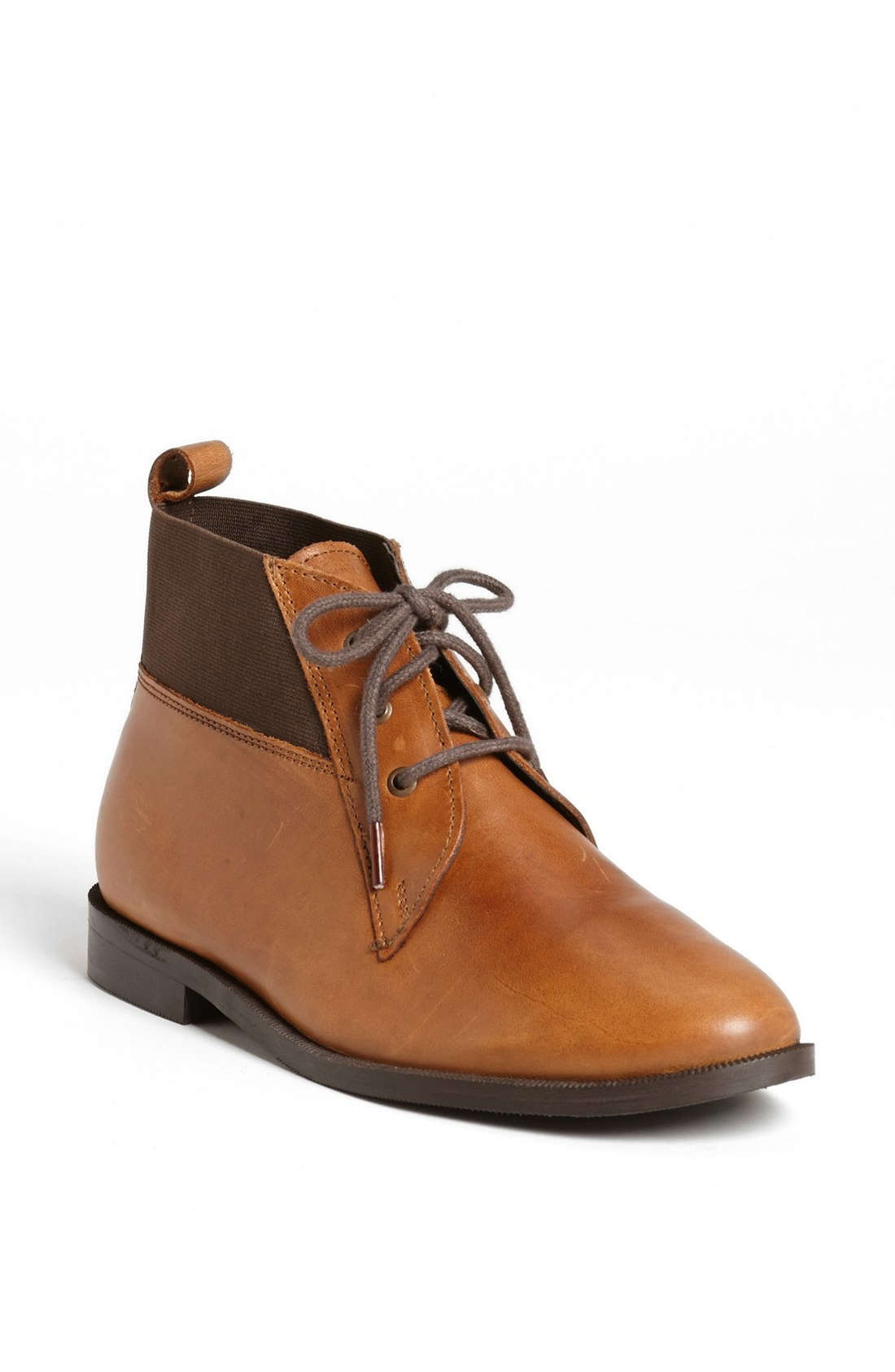 topshop model ankle boot in brown lyst