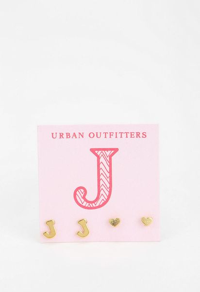 urban outfitters gift card urban outfitters initial heart gift card earring set in 5374