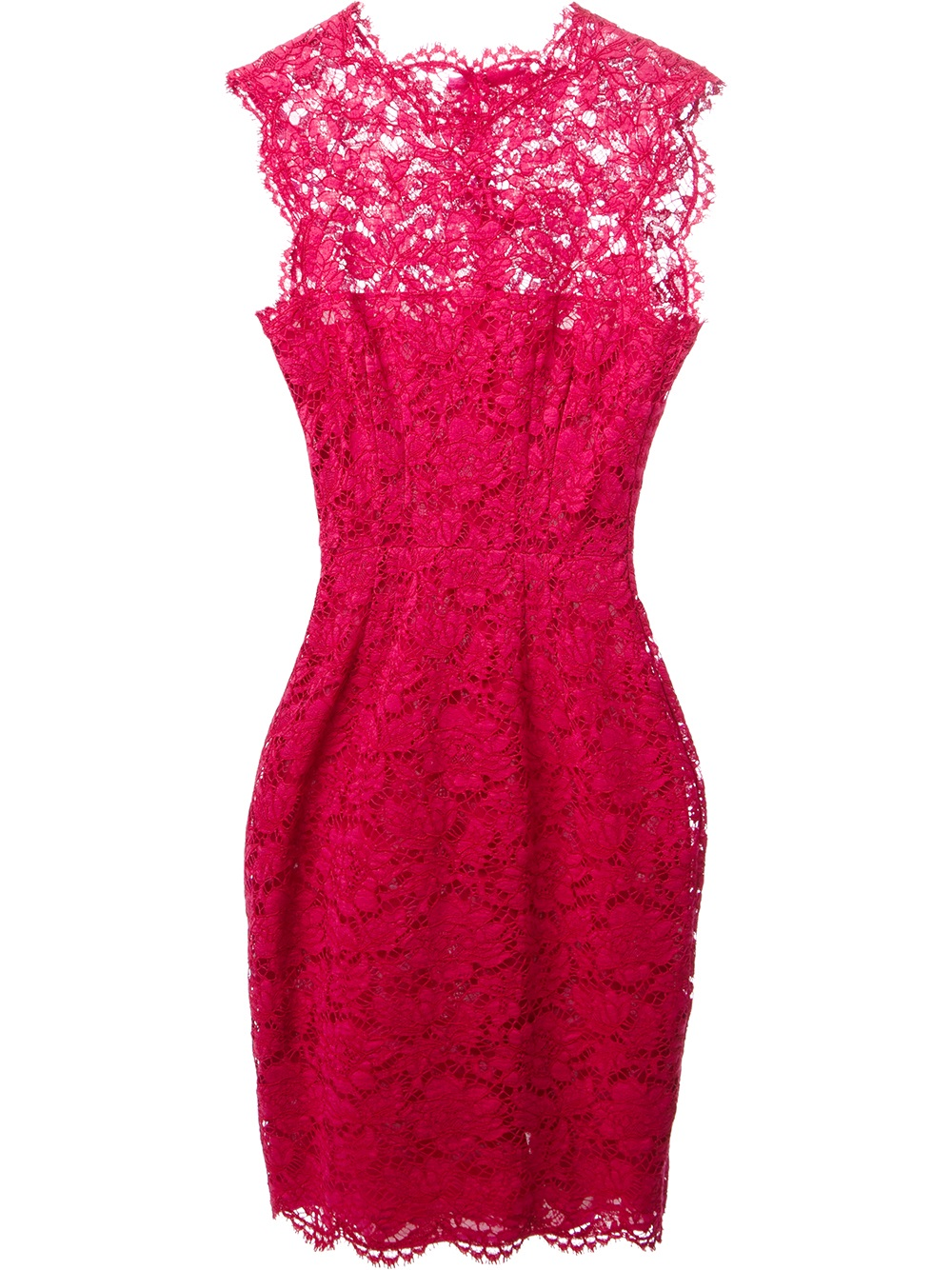 Valentino Lace Dress In Pink Pink Amp Purple Lyst