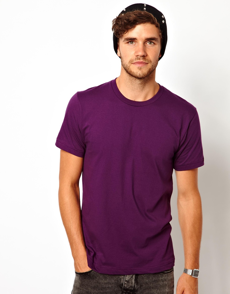 American apparel t shirt with crew neck for men lyst for American apparel custom t shirts