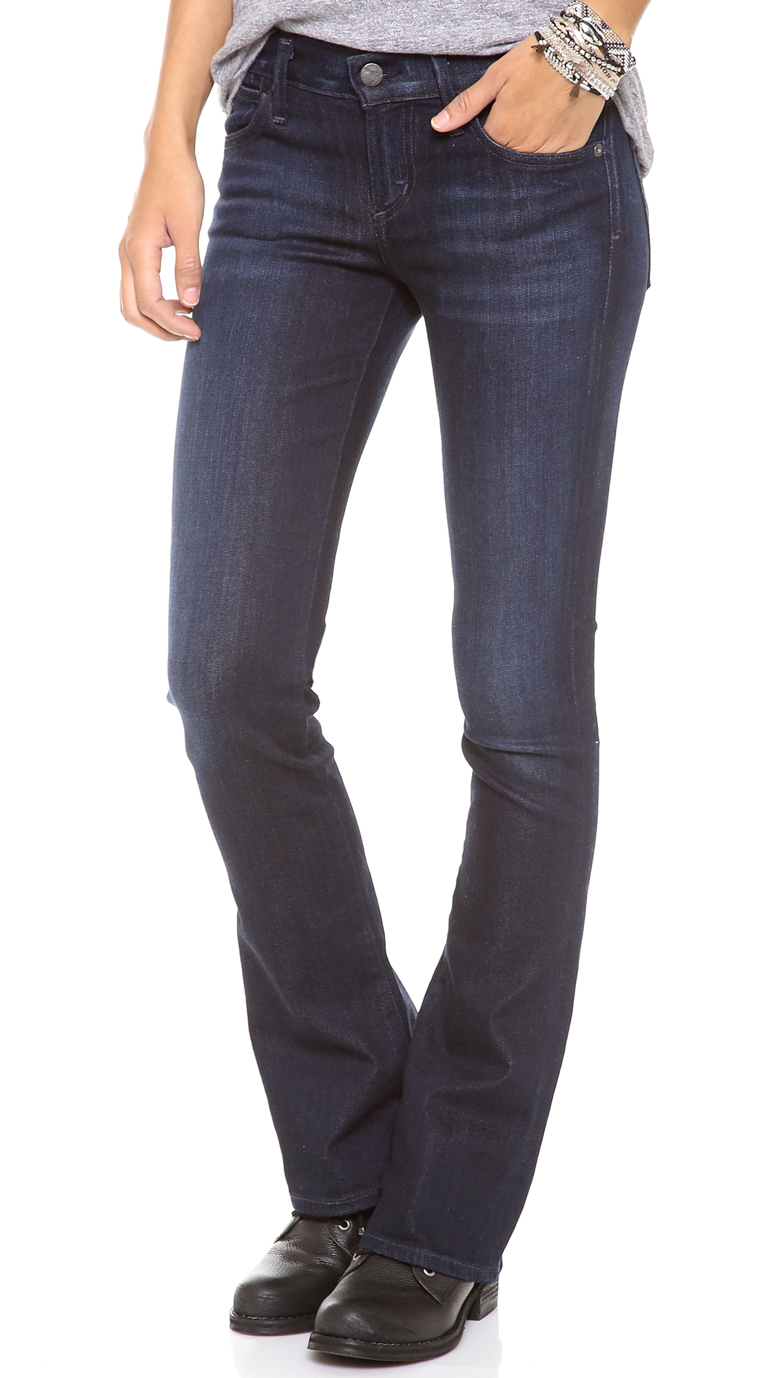 Citizens Of Humanity Emmanuelle Petite Slim Boot Cut Jeans ...