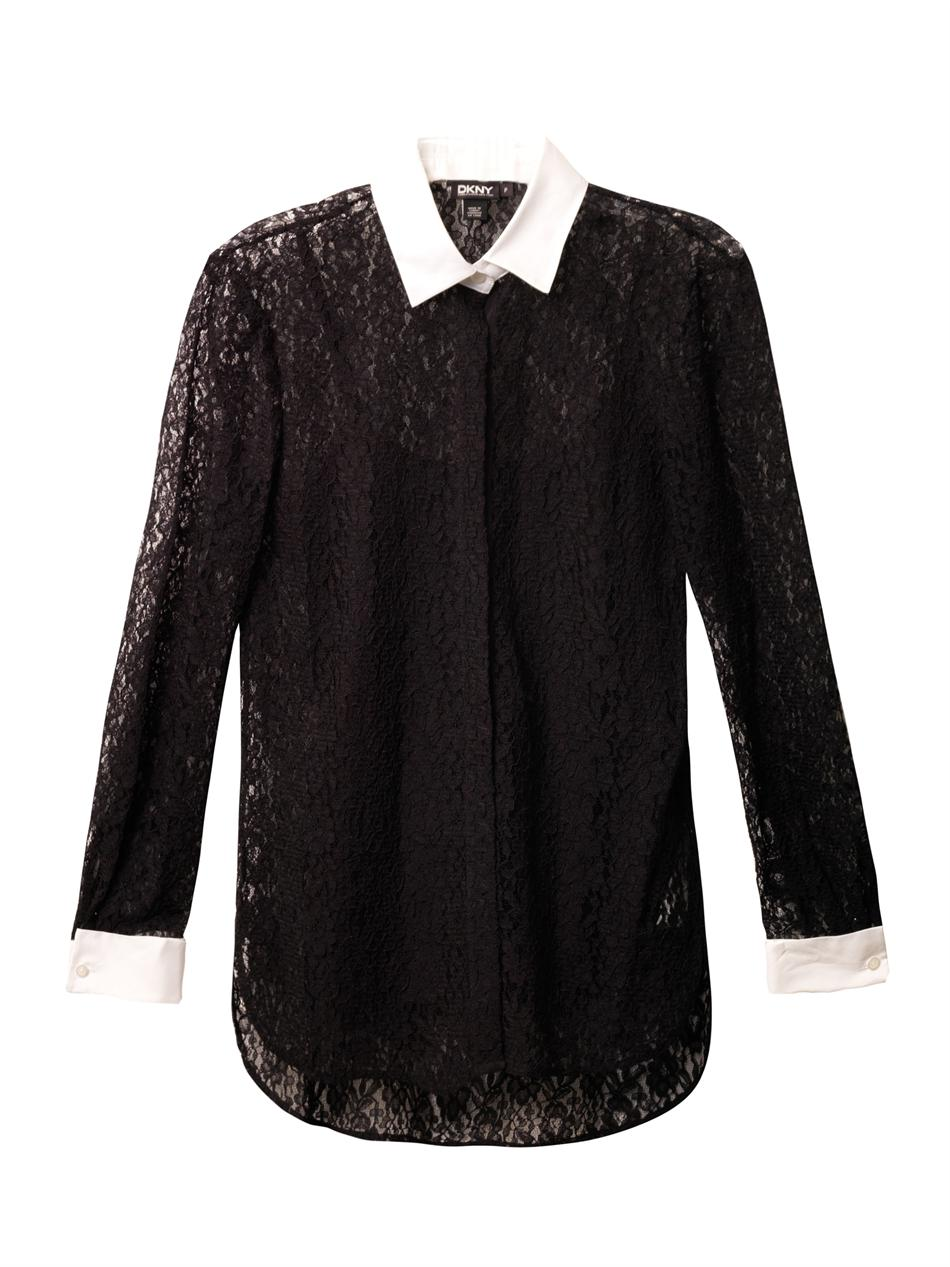 The white portion is sheer, but looks great, the collar is good quality, perfect white and cotton. The sweater is light weight, and adorable. I ordered the black, but it looks more like a dark grey, so I doubt the grey will be very different.