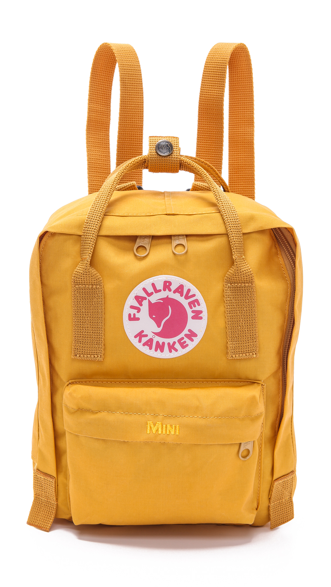 fjallraven kanken mini backpack in orange ochre lyst. Black Bedroom Furniture Sets. Home Design Ideas
