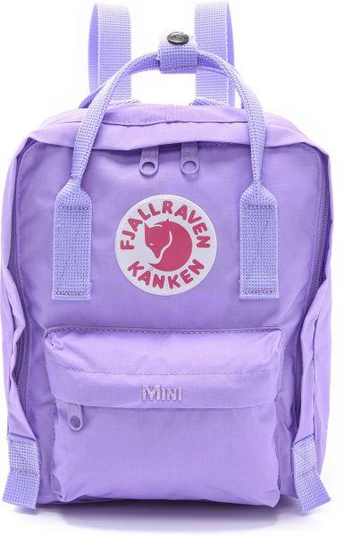 Fjallraven Kanken Mini Backpack Peach Pink In Purple