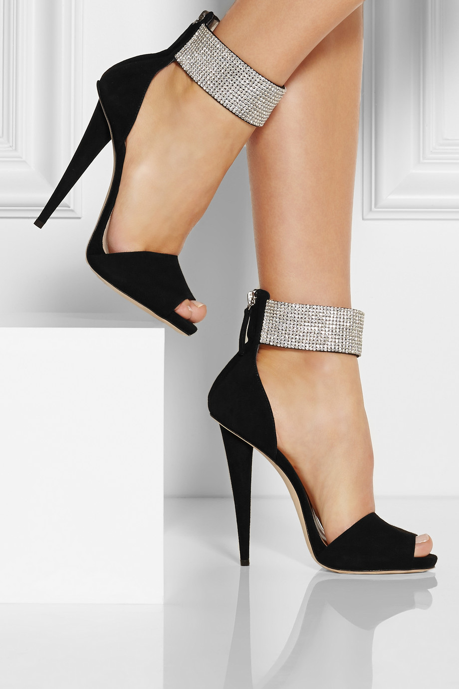 Black Deichman Shoes With Crystal
