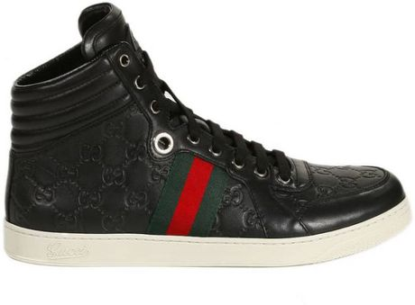gucci shoes tennis ankle boots ssima in black for