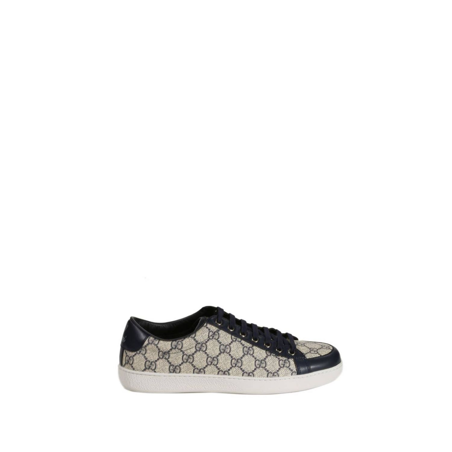 gucci shoes tennis gg supreme in blue for lyst