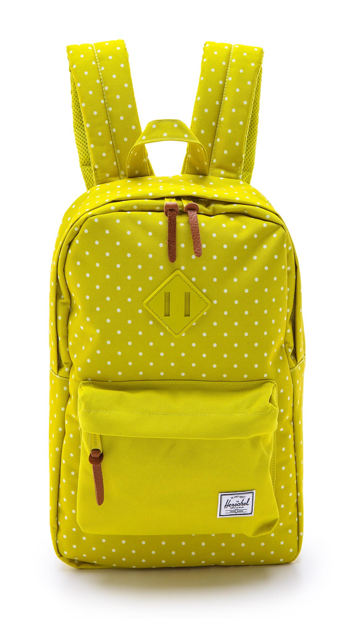 Herschel Supply Co Heritage Mid Volume Backpack In Yellow