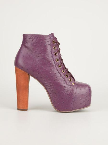 jeffrey campbell lita bootie in purple pink purple lyst. Black Bedroom Furniture Sets. Home Design Ideas