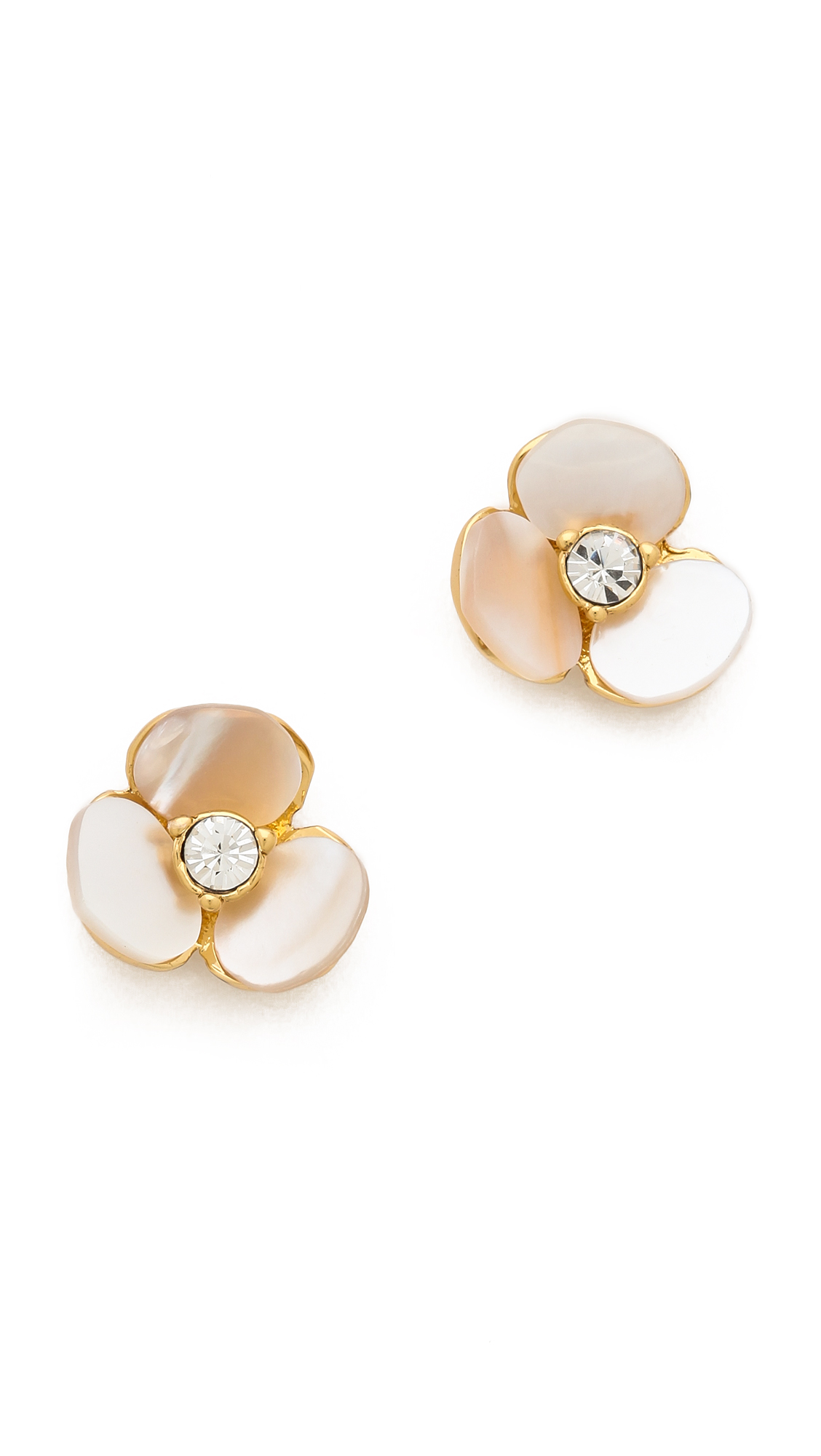 Lyst Kate Spade Disco Pansy Stud Earrings In White