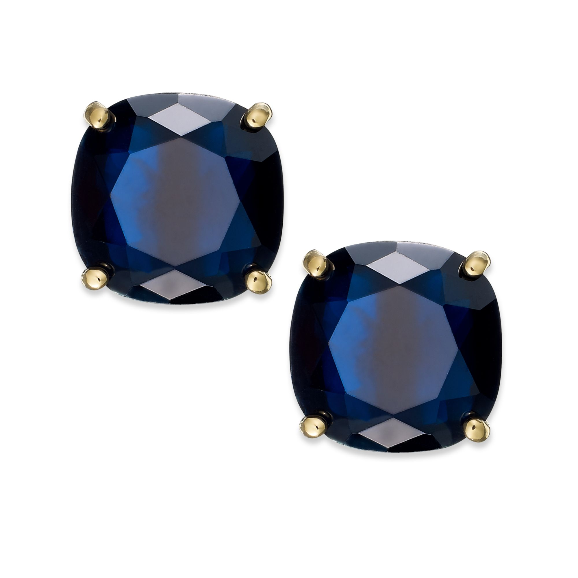 silver womens navy zirconia cubic cz gemstone stone round earrings sterling stud blue itm