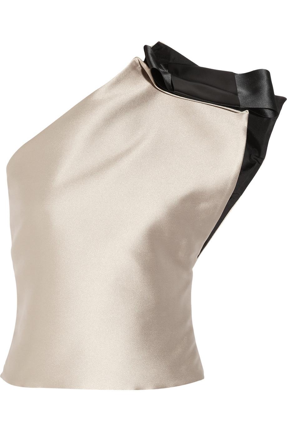 One Shoulder Satin Top