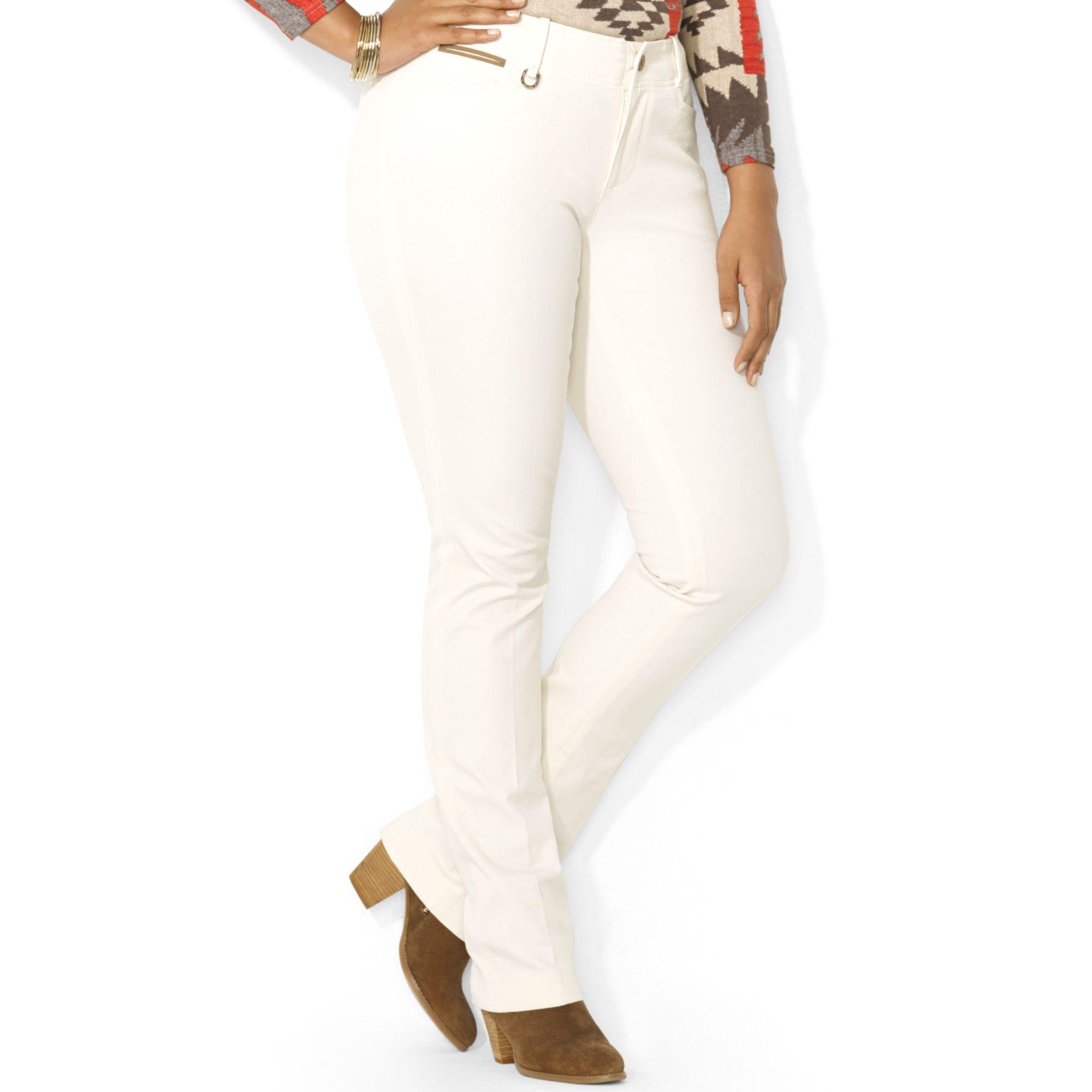 Lauren by ralph lauren Plus Size Twill Straightleg Pants ...