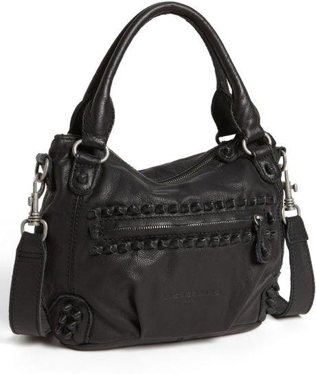 liebeskind vintage knot gina leather satchel in black lyst. Black Bedroom Furniture Sets. Home Design Ideas