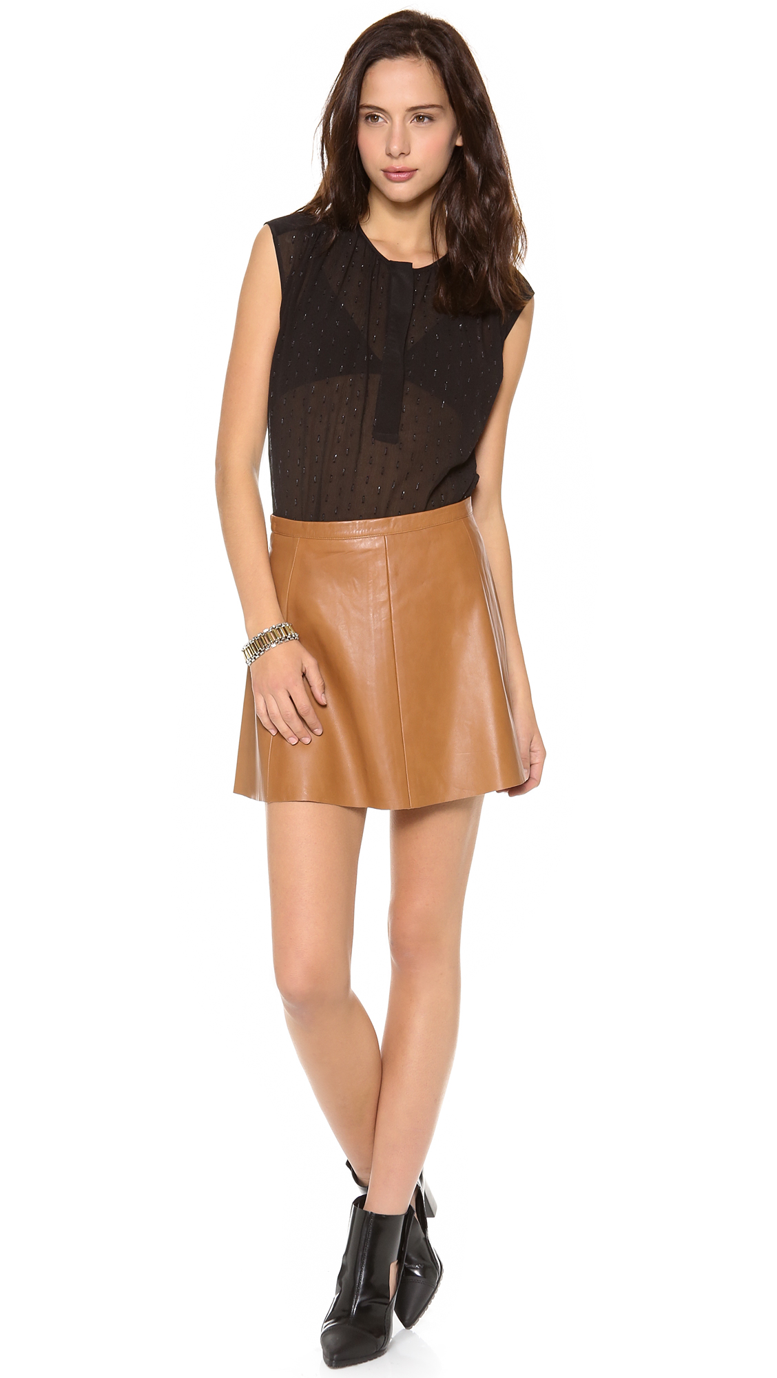 Love leather Legs Legs Legs Leather Skirt in Brown | Lyst