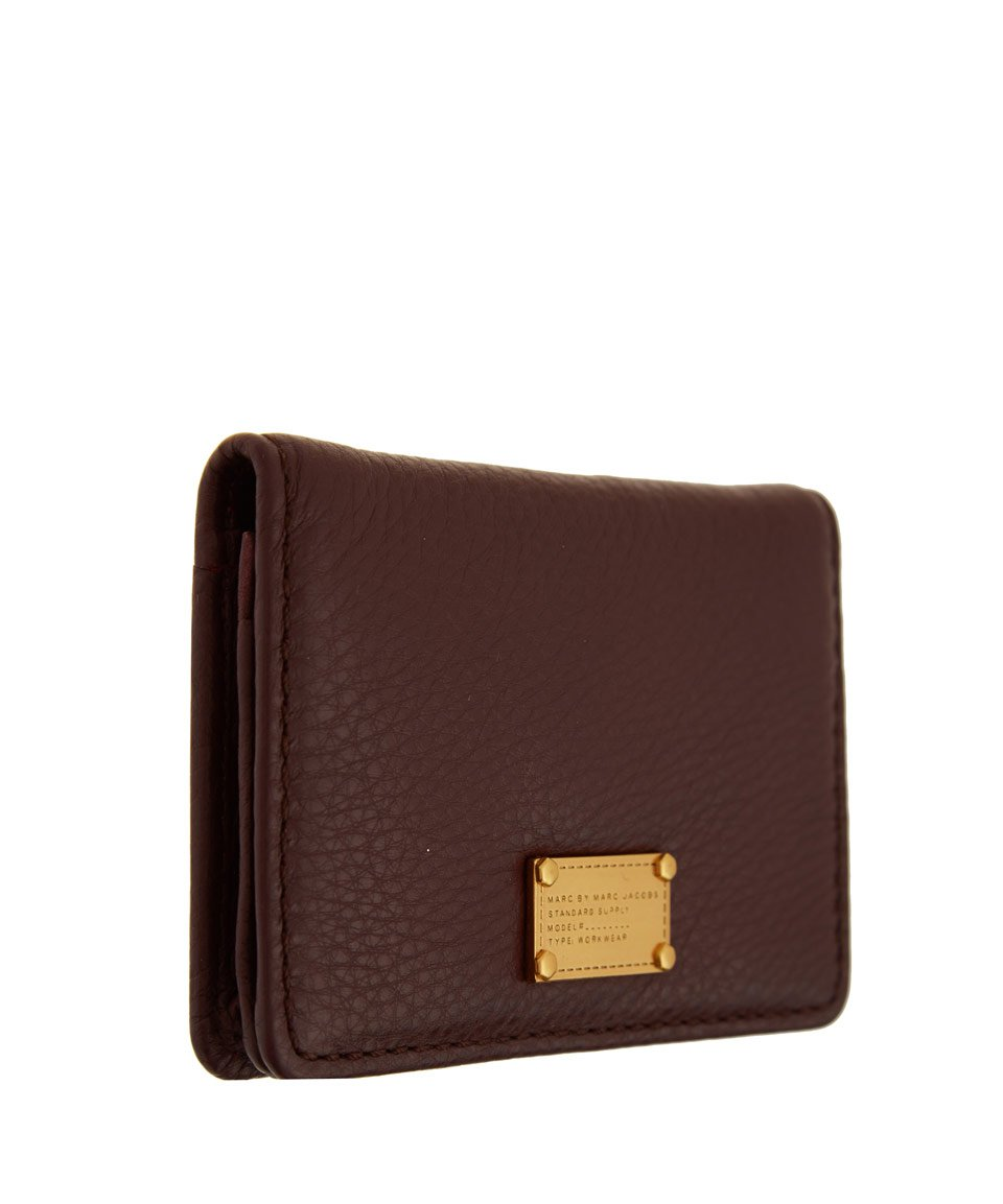 Lyst marc by marc jacobs burgundy classic q business card holder gallery colourmoves