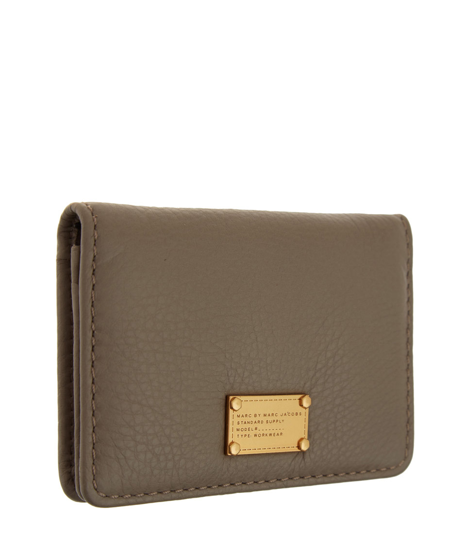 Lyst - Marc by marc jacobs Taupe Classic Q Business Card Holder in ...