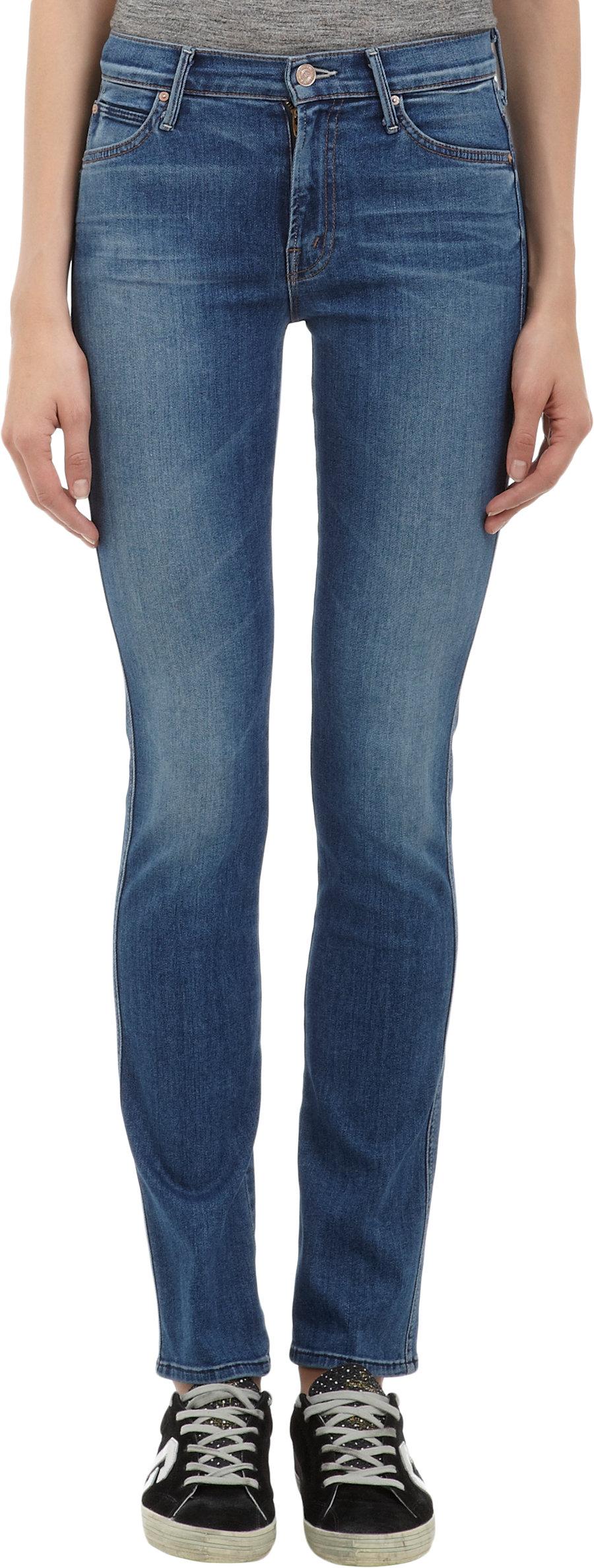 8896994d1713 Mother Highwaisted Rascal Skinny Jeans Famous Heroine in Blue - Lyst