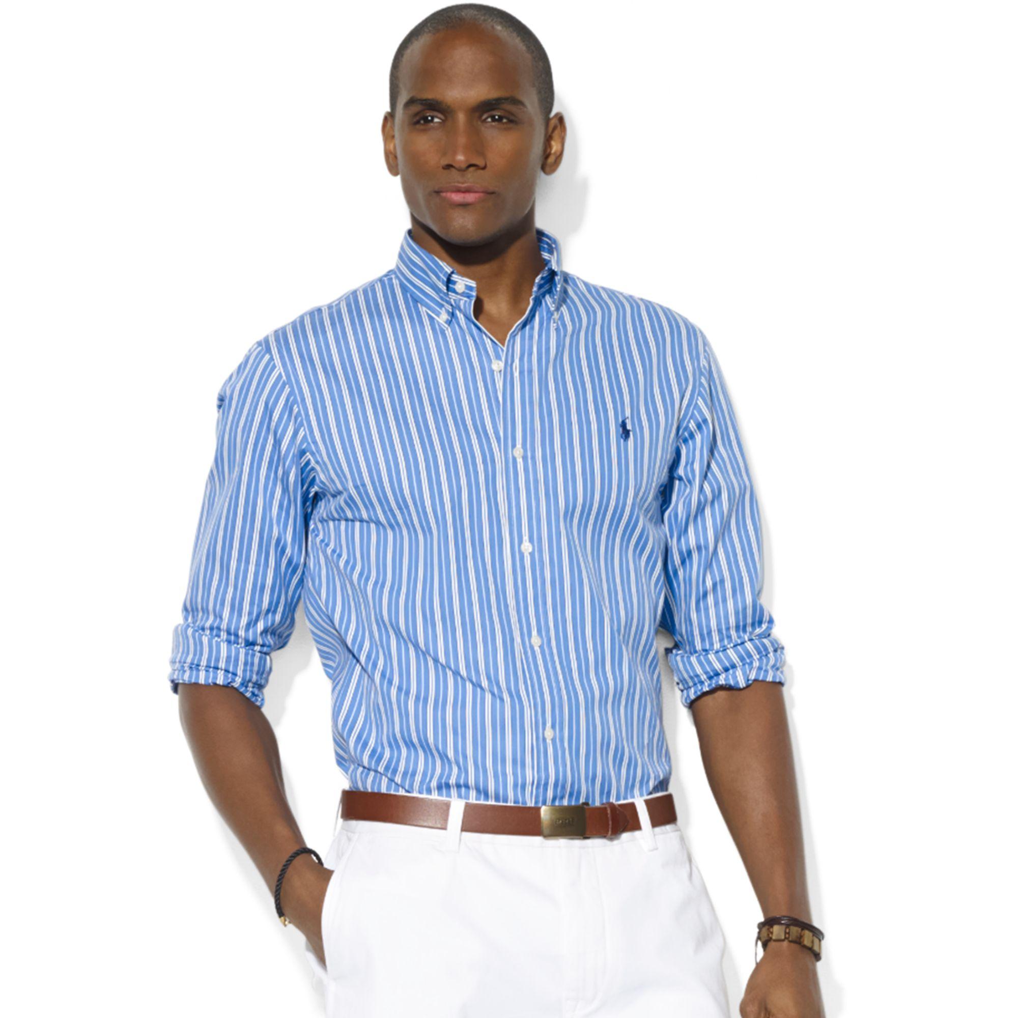Ralph Lauren Multicolor Cotton Polo Shirt in Blue for Men