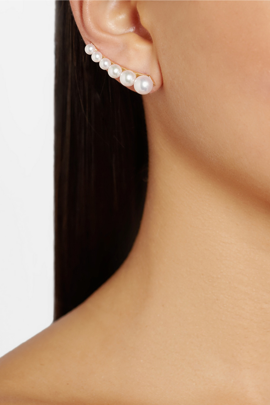Sophie Bille Brahe 14karat Gold Freshwater Pearl Ear Cuff