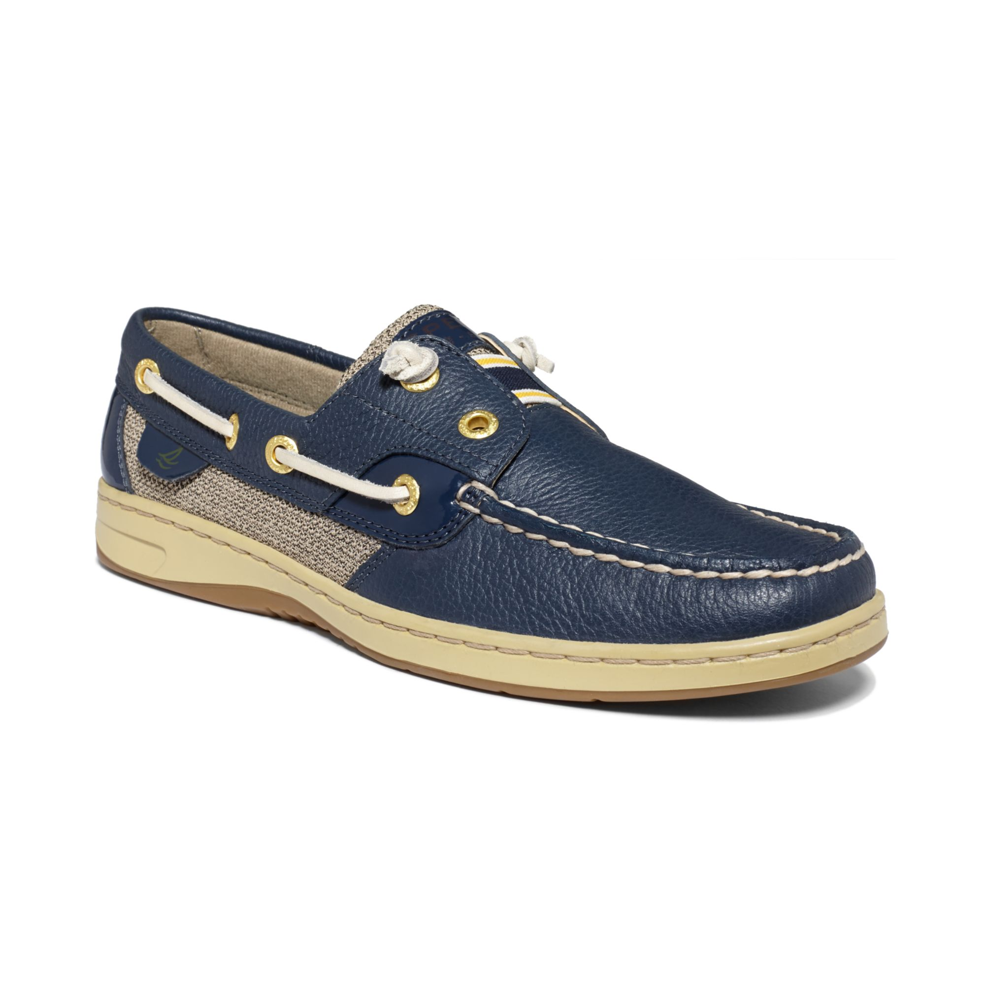 Sperry top sider womens rainbowfish boat shoes in blue for Best boat shoes for fishing