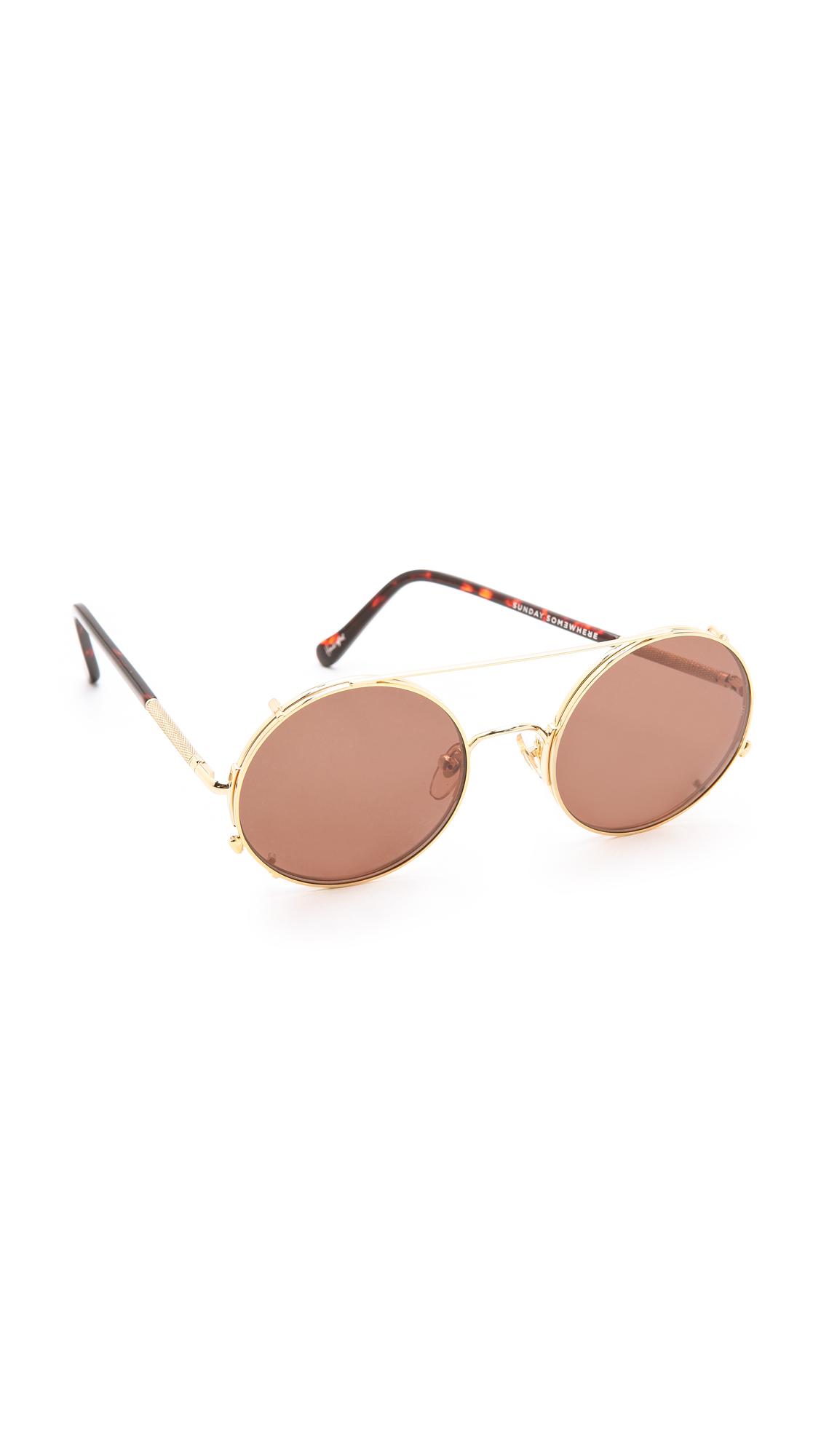 9bdc04e5c78f Sunday Somewhere Valentine Sunglasses in Metallic - Lyst