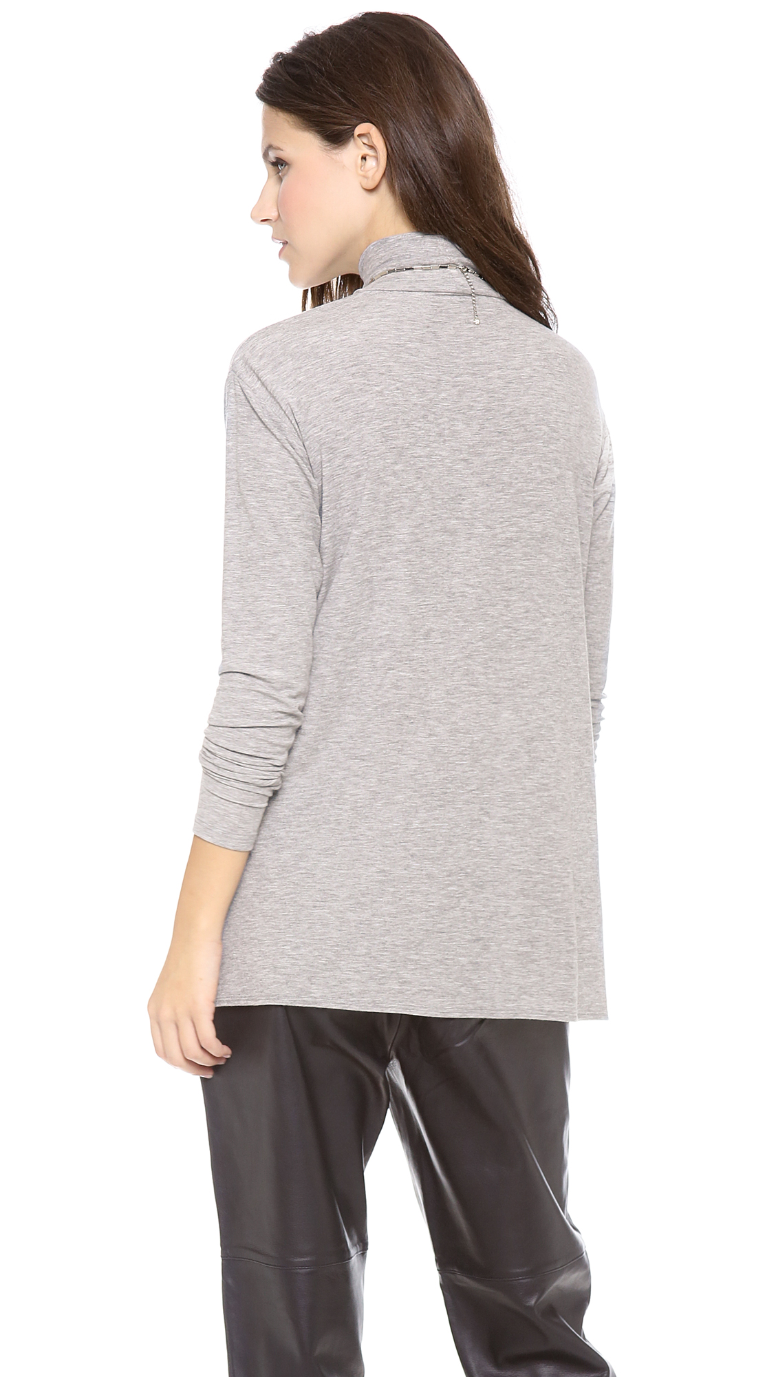 Theory Ribbed Turtleneck Sweater in Gray | Lyst