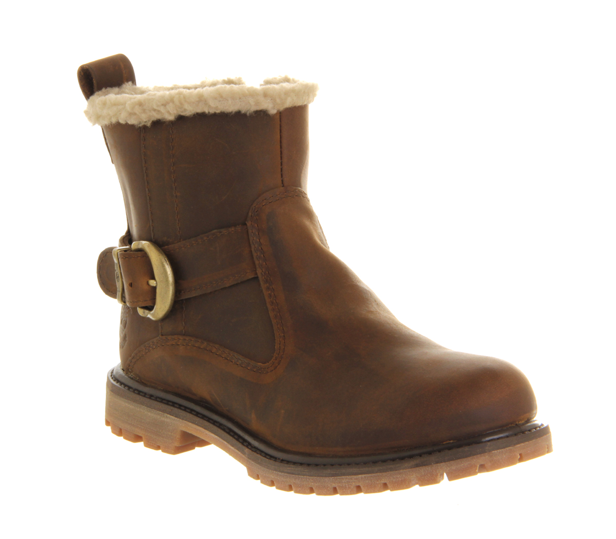 timberland nellie biker boots in brown save 38 lyst