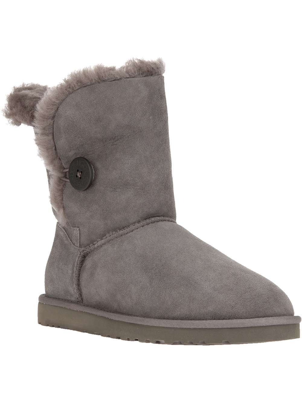 ugg baily ankle boot in gray grey lyst