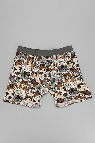 urban outfitters wallpaper cats boxer brief in multicolor. Black Bedroom Furniture Sets. Home Design Ideas