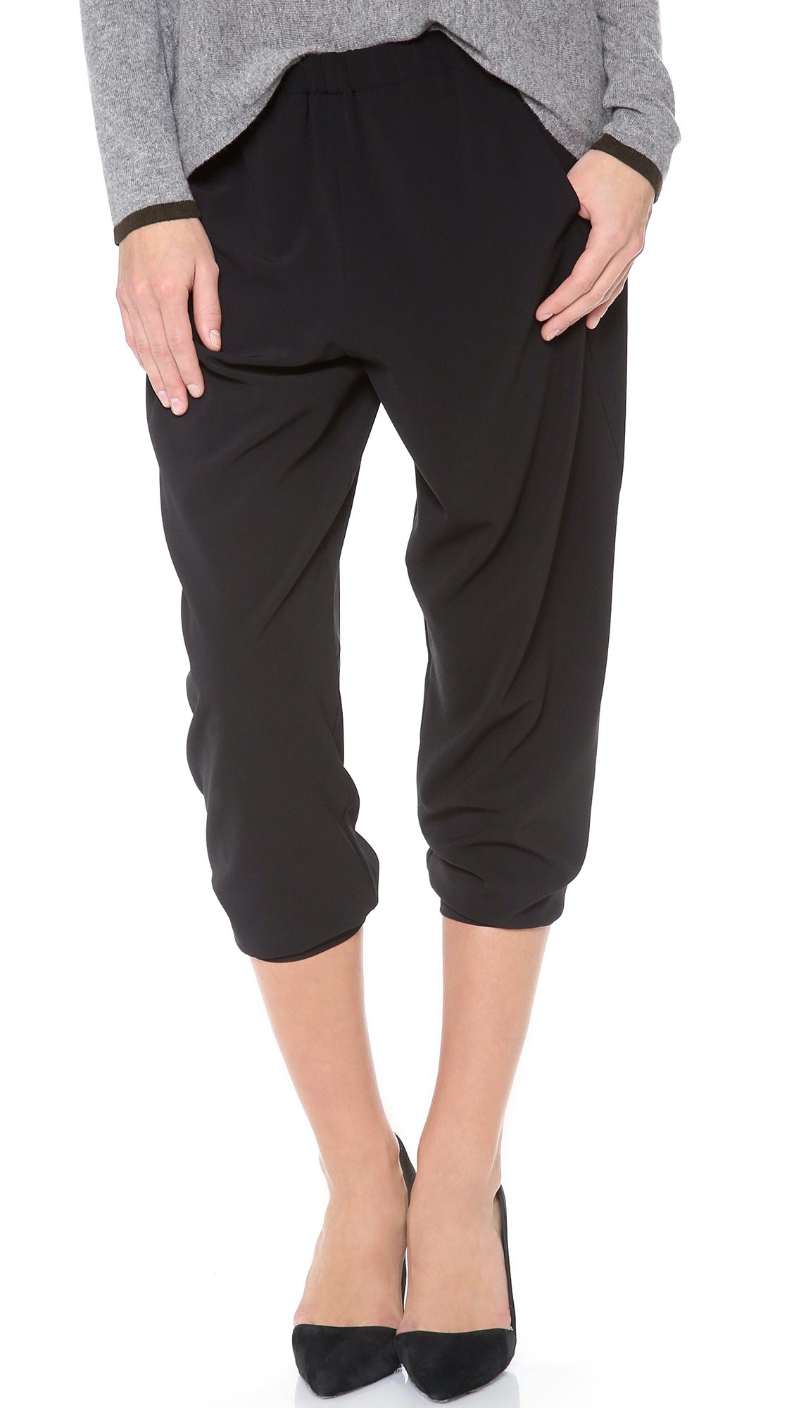 Vince Wrap Seam Pants In Black Lyst