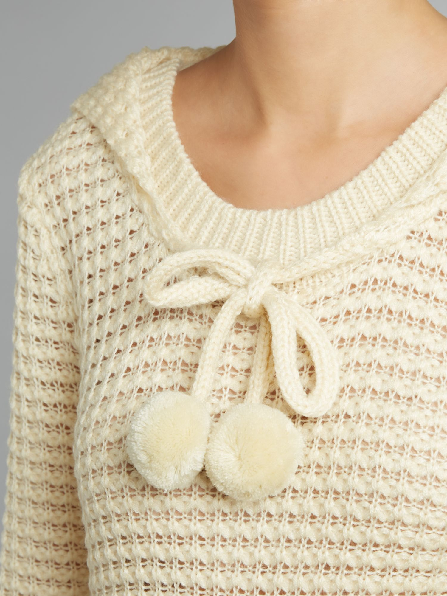 Kangaroo Hoodie Knitting Pattern : Izabel london Chunky Knit Hoodie with Kangaroo Pocket in ...