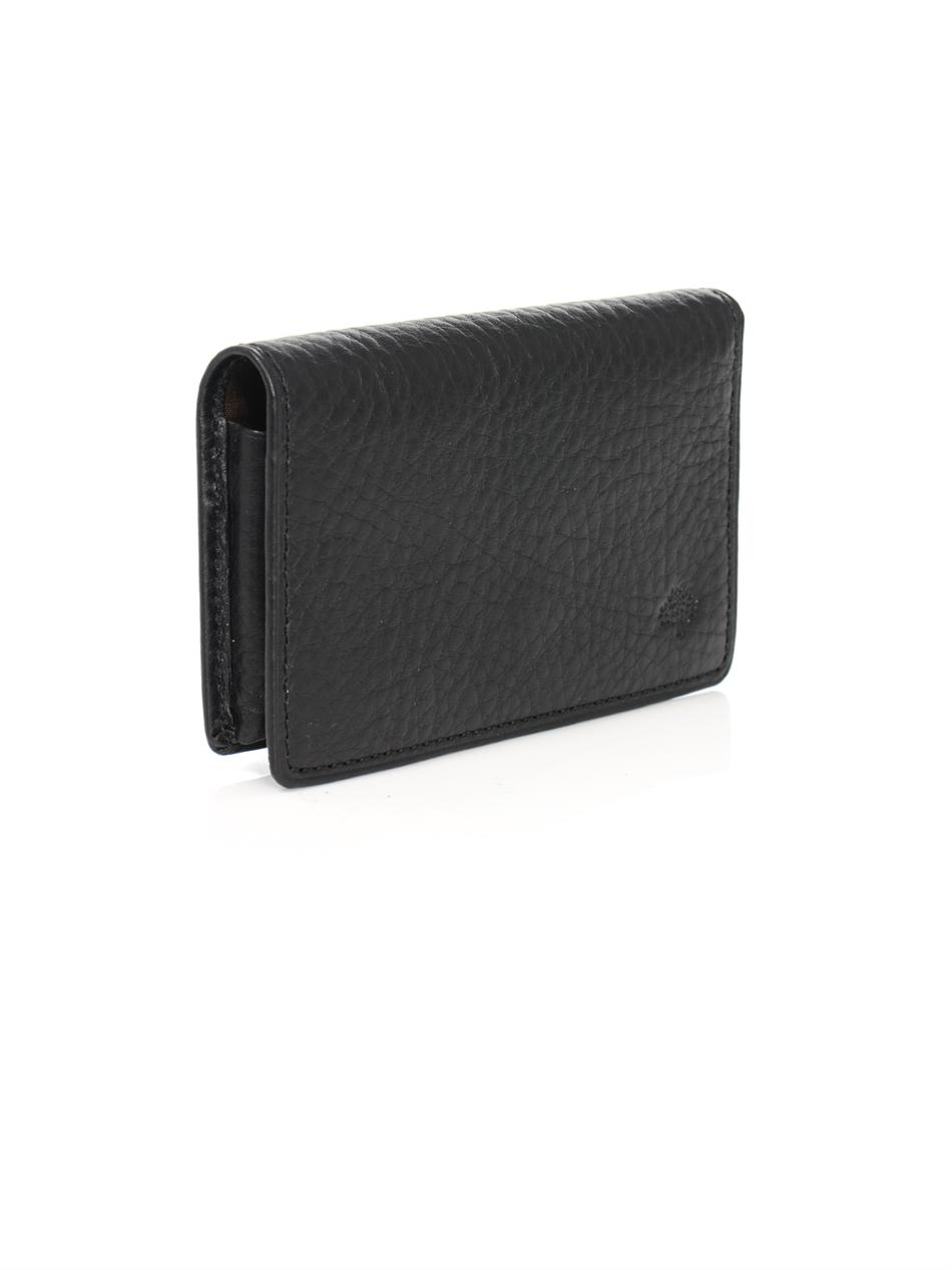 Lyst mulberry leather card holder in black for men gallery reheart Gallery