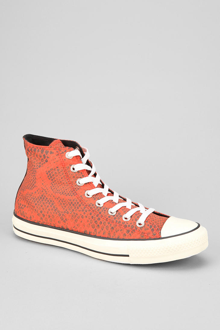 ed5773fd71da21 Lyst - Urban Outfitters Converse Chuck Taylor All Star Snakeskin ...