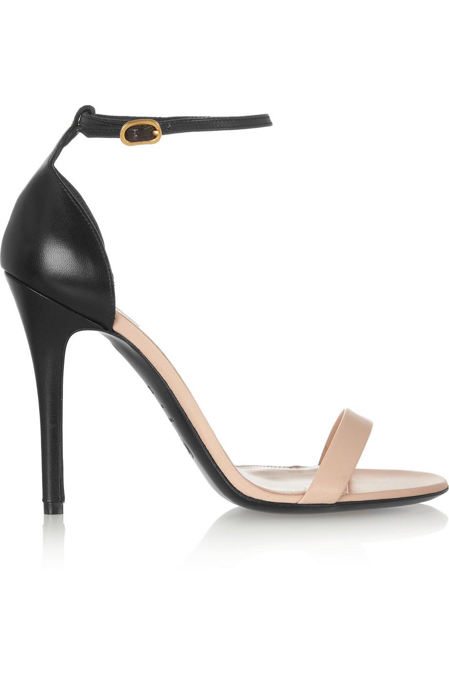 3db31cc5d67 Shoeniverse  ALEXANDER MCQUEEN Beige Two-Tone Leather Sandals