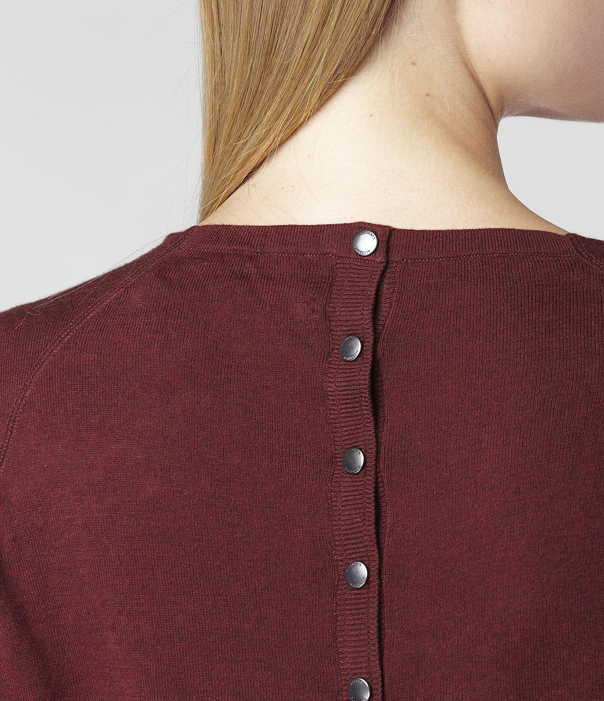 Allsaints Elgar Cowl Neck Sweater in Red | Lyst