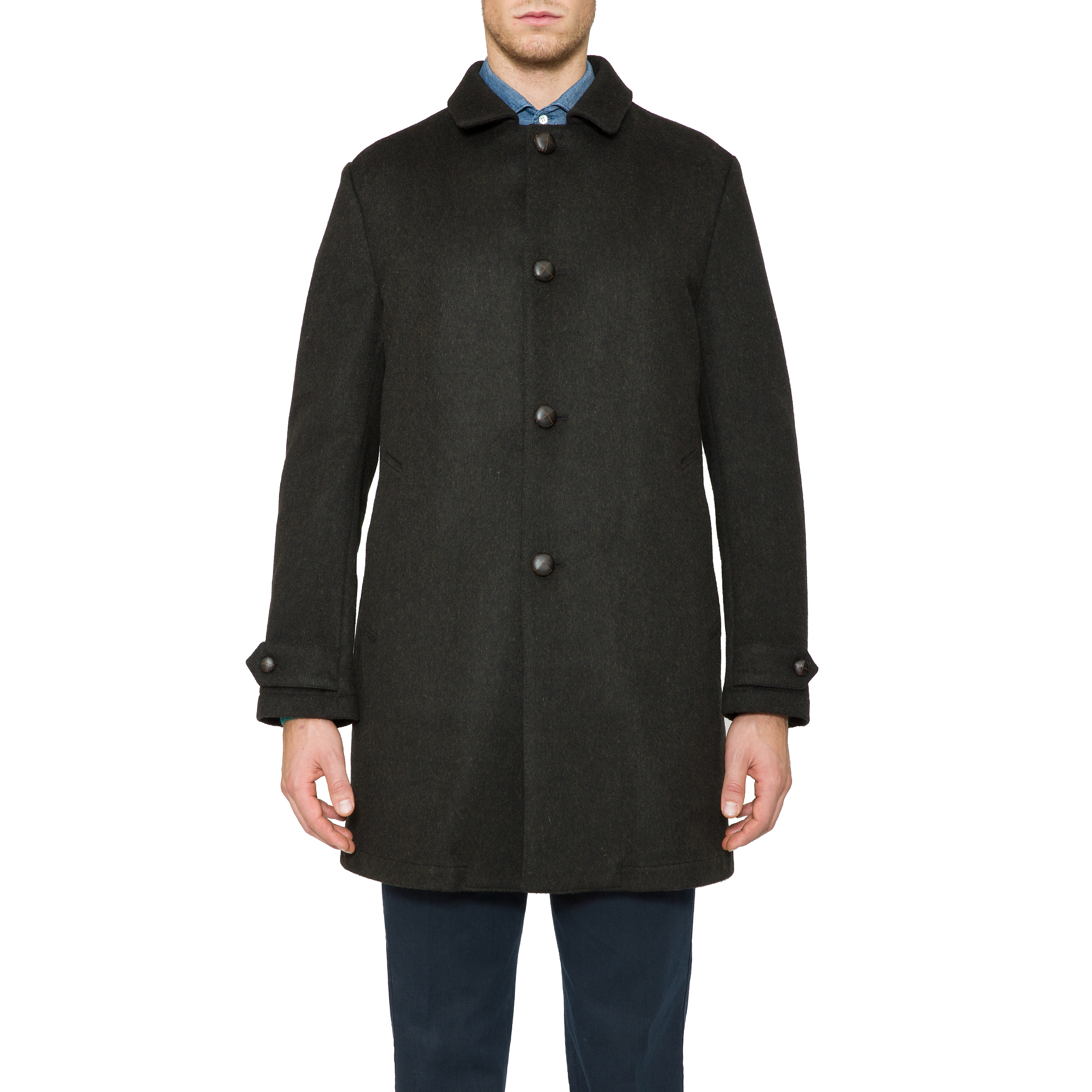 Aspesi Loden Wool Perfetto Coat In Green For Men Lyst