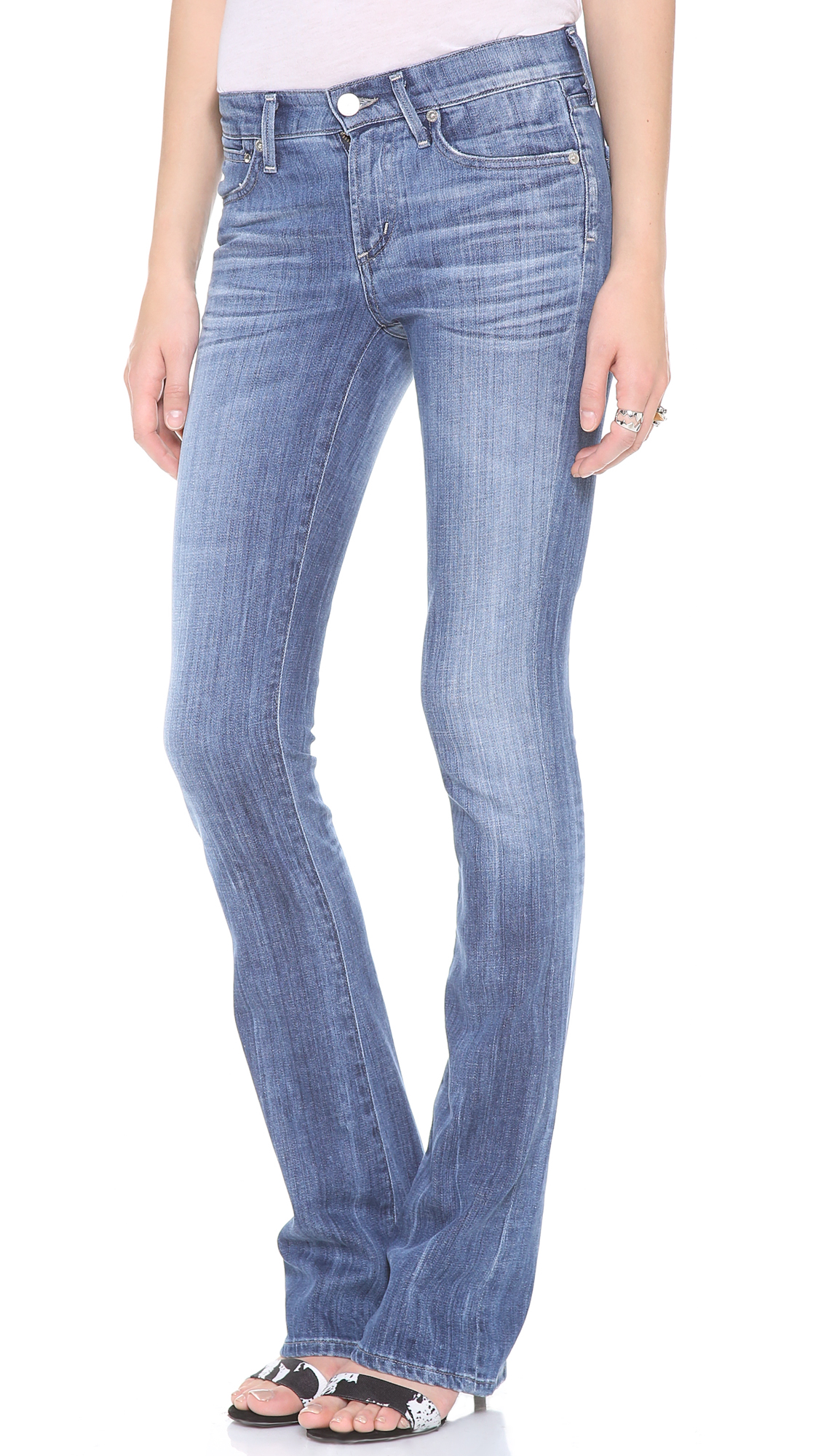 citizens of humanity emannuelle slim bootcut jeans in blue. Black Bedroom Furniture Sets. Home Design Ideas