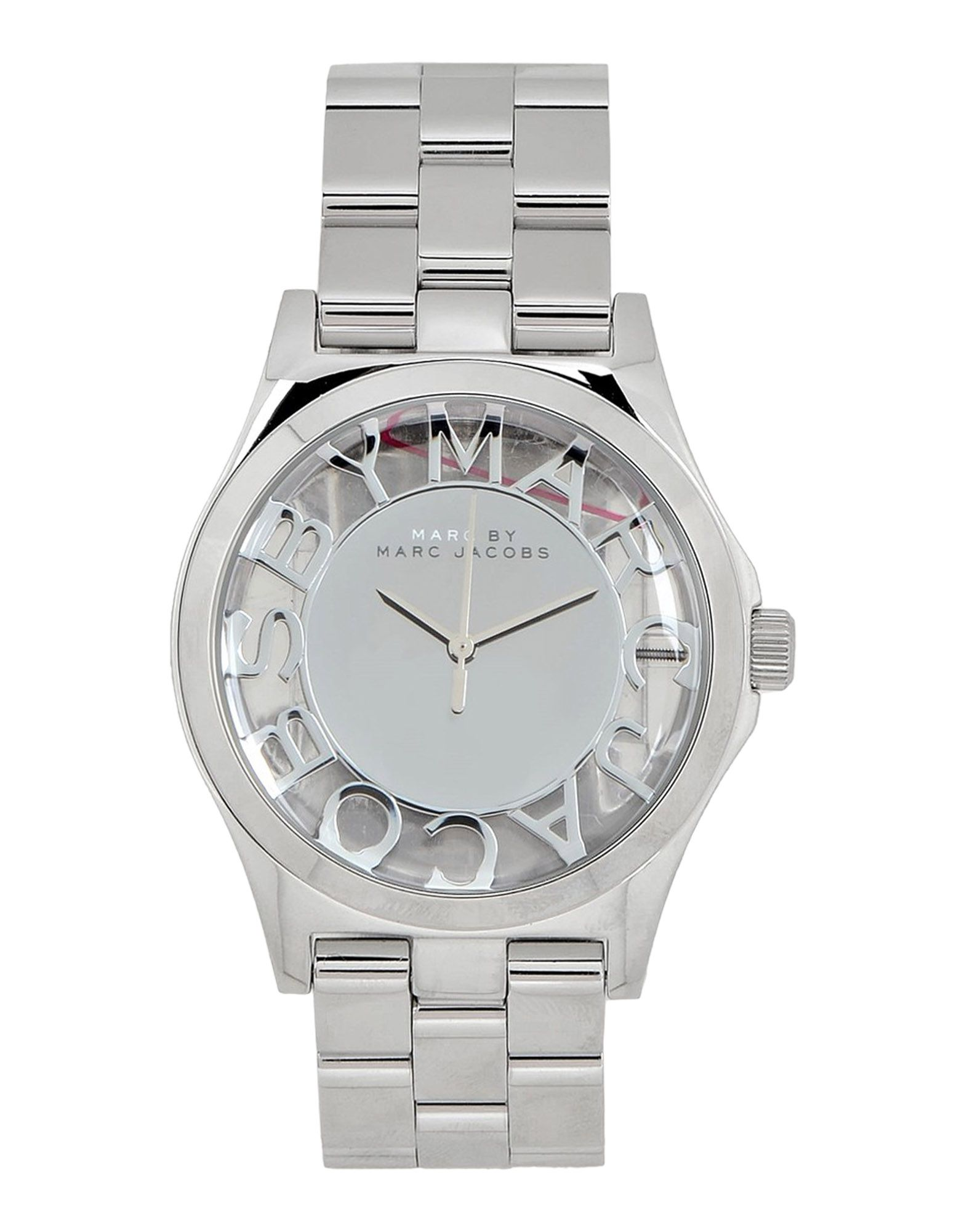 marc by marc jacobs wrist watch in silver lyst