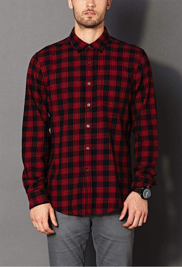 Forever 21 Fireside Plaid Shirt in Black for Men | Lyst