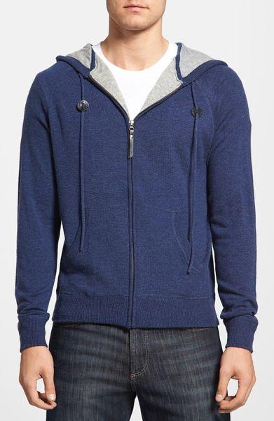 Diamonds 'Americana' Wool Zip Hoodie in Blue for Men (Navy) | Lyst