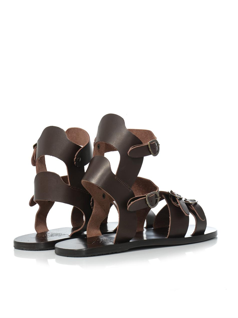 d13f03b69 Lyst - Ancient Greek Sandals Achilles Leather Sandals in Brown for Men