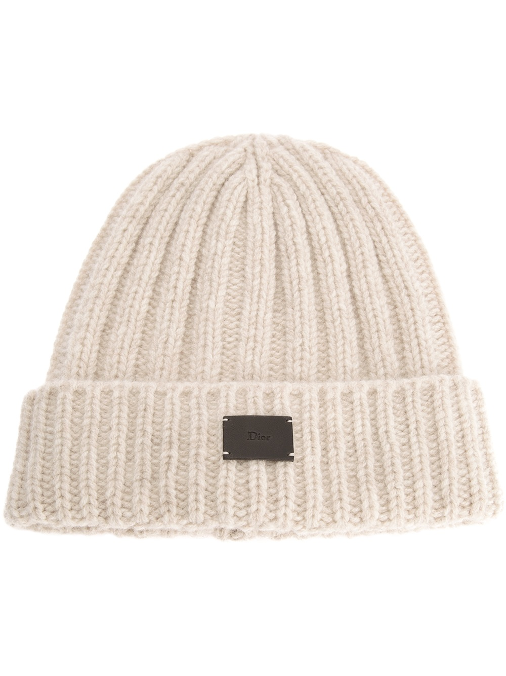 Lyst - Dior Homme Ribbed Beanie Hat in Natural for Men 81f05965600