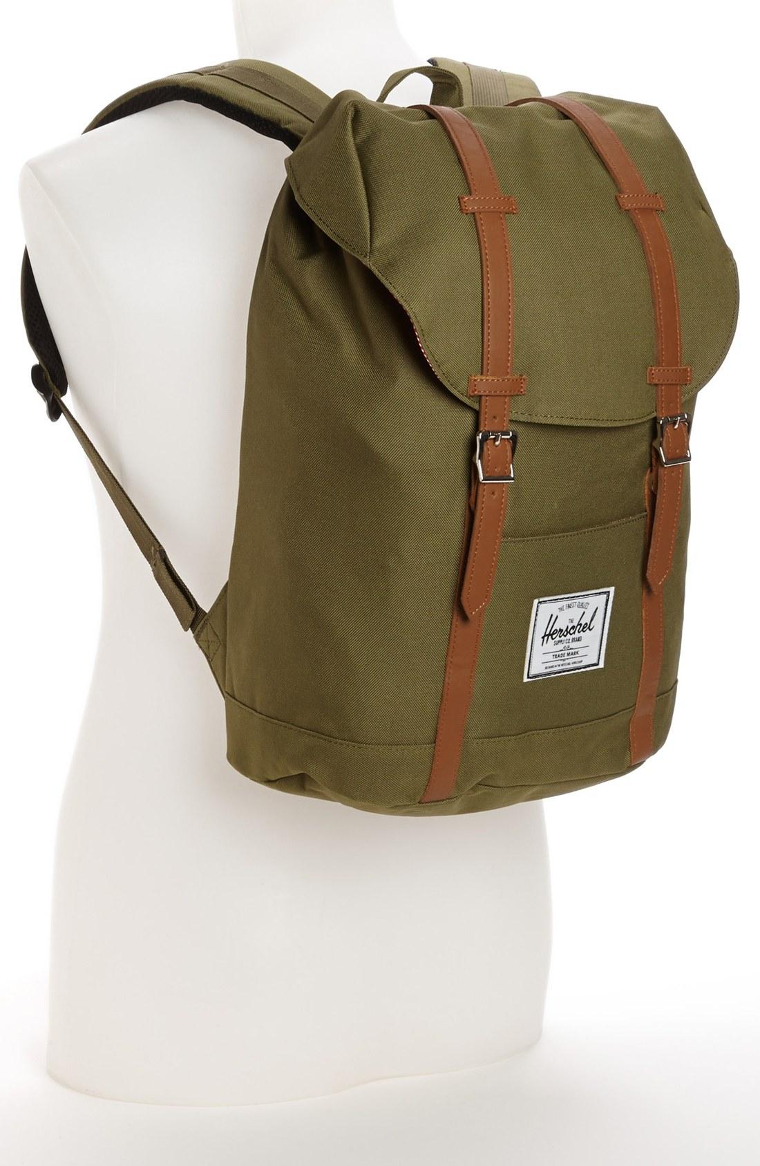 herschel supply co retreat backpack in green for men army lyst. Black Bedroom Furniture Sets. Home Design Ideas