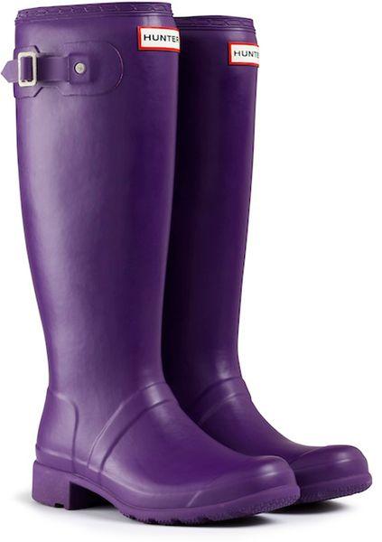 Hunter Original Packable Tour Rain Boots In Purple For Men
