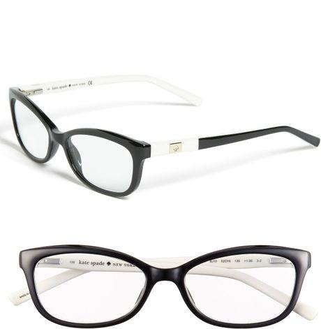 kate spade chita reading glasses in white black ivory lyst