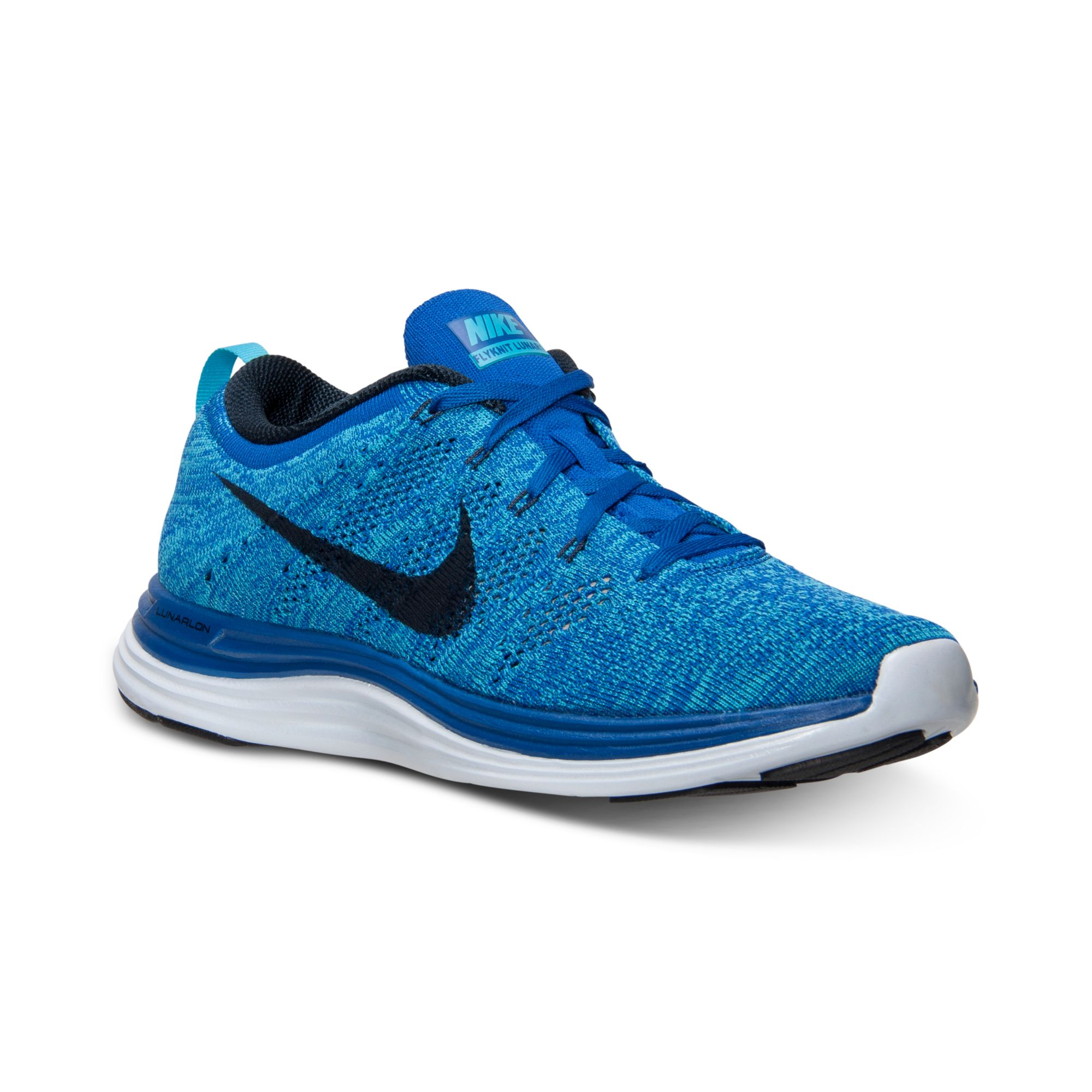 419c2c0a498d92 ... store lyst nike flyknit lunar1 running sneakers from finish line in  blue 38f92 2cb65