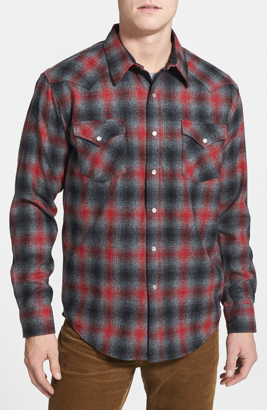 pendleton fitted wool flannel western shirt