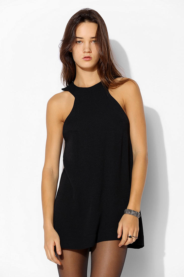 Black dress urban outfitters logo