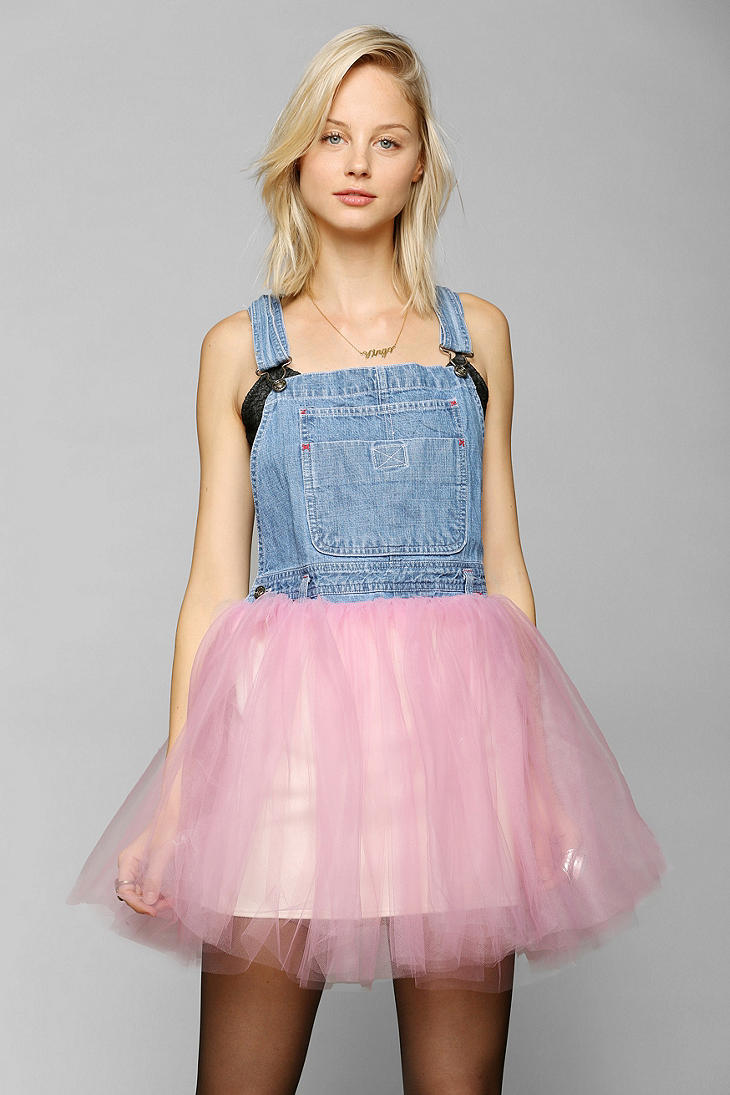 Lyst Urban Outfitters Urban Renewal Tulleskirt Overall